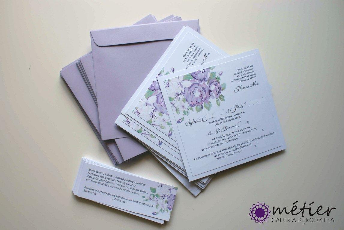 Zaproszenia ślubne Wwwmetierpl Flora W Różnych Odsłonach