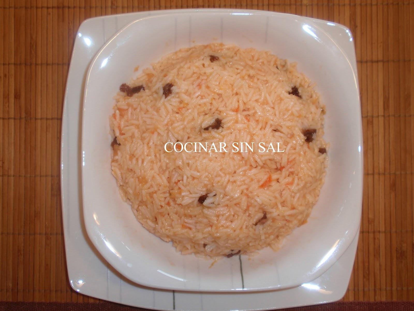 Cocinar sin sal arroz con tomate y uvas pasas sin sal - Cocinar sin sal ...