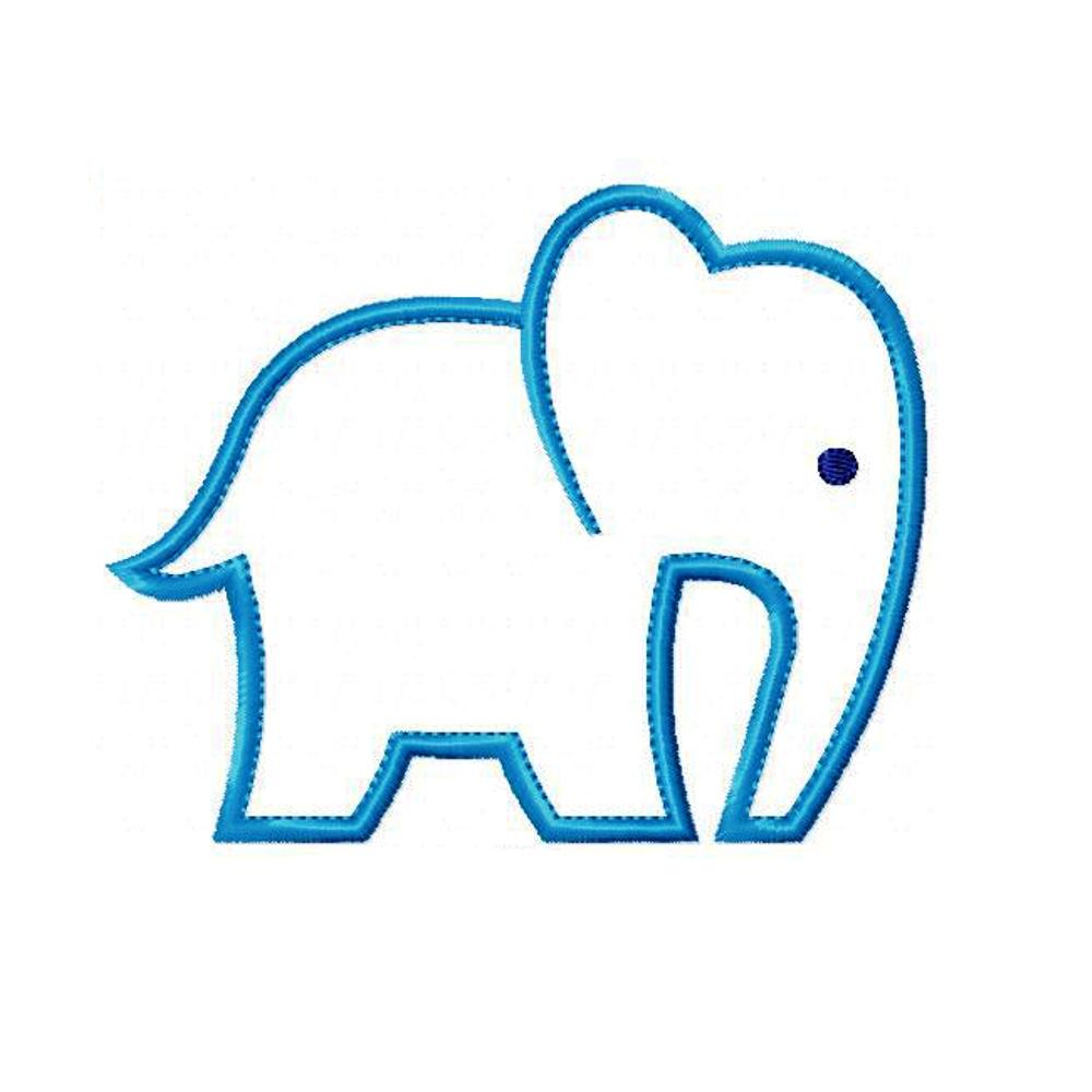 Machine Embroidery Design Baby Elephant
