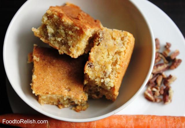 Carrot Pecan Cake (Eggless)