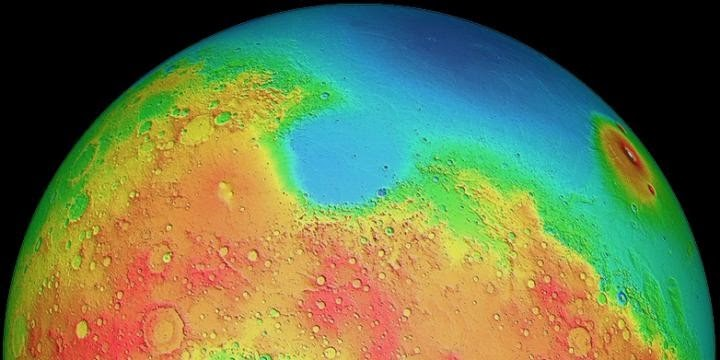 Hemisferios Marte