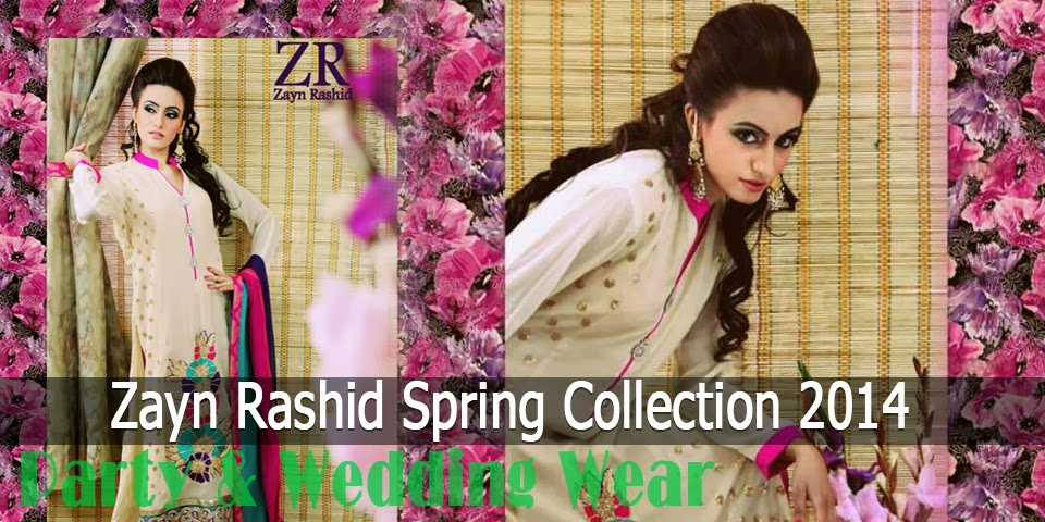 Latest Party Wear Spring 2014 Collection By Zayn Rashid - Banner
