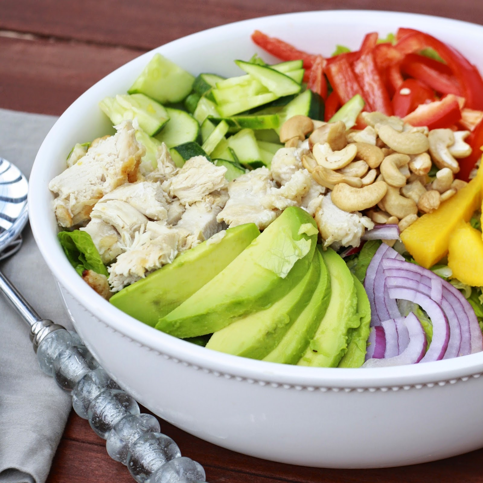 Chopped Mango Chicken Salad with Jalapeno Cilantro Vinaigrette | The ...