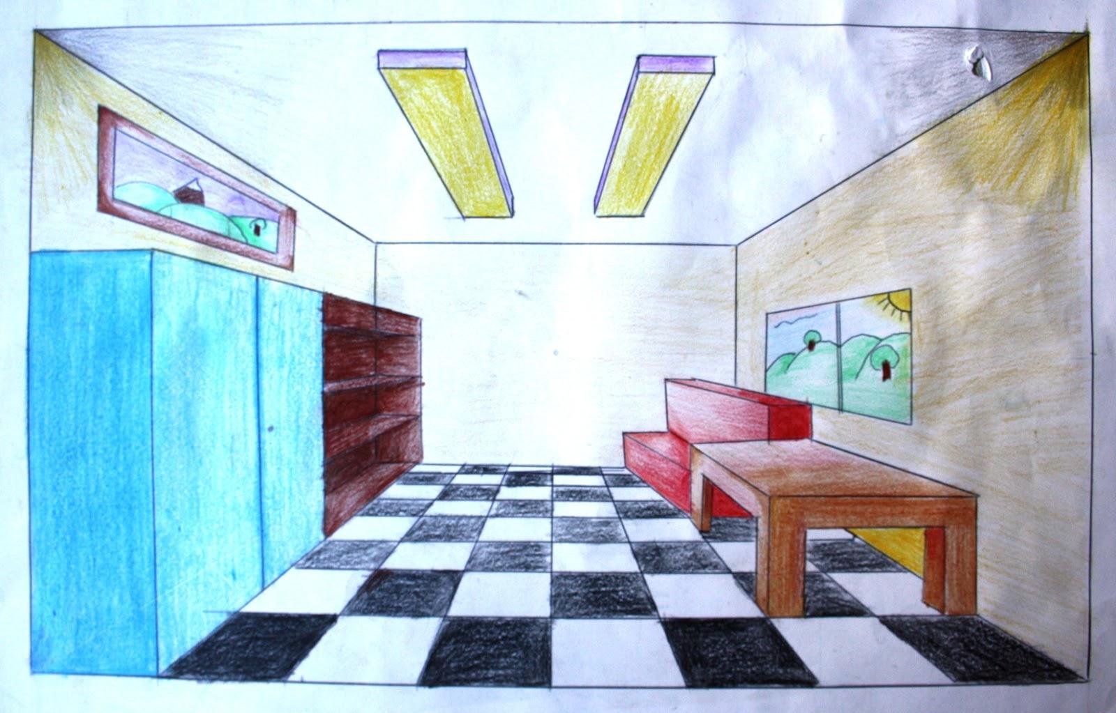 Trabajos de 4 de eso la perspectiva c nica for Disena tu propia habitacion