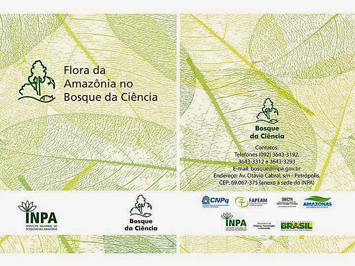 Publicado pelo INPA a cartilha Flora da  Amazônia no Bosque da Ciência.