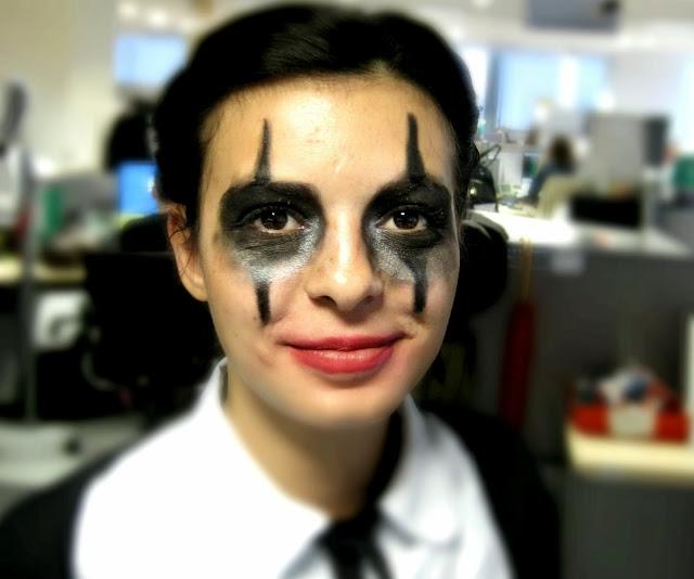 scary psycho clown halloween make up look tutorial makeup