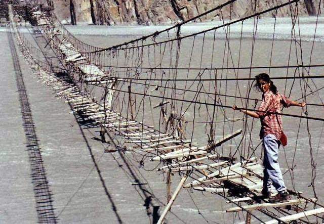 Hussaini Hanging Bridge, Pakistan Utara