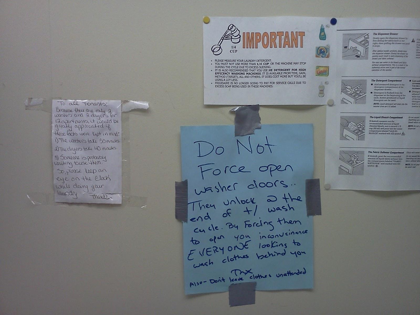 Laundry Room Etiquette Sign   Decoration Modern