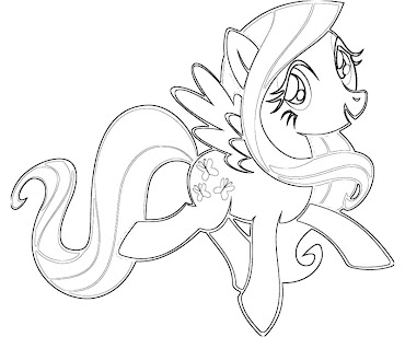 #5 Fluttershy Coloring Page