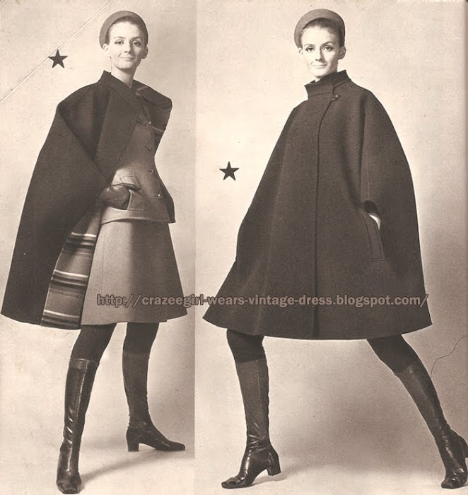manteau cape Philippe Venet - 1967 coat 60s 1960