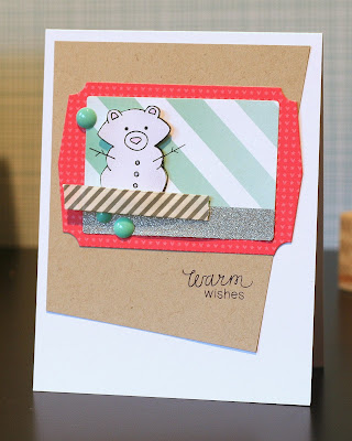 Snow bear card by Ashely Marcu for Newton's Nook Designs