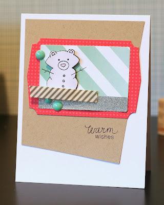 Snow bear card by Ashely Marcu for Newton's Nook Designs