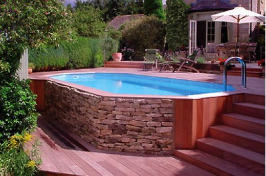 6 id es d 39 am nagement pour votre piscine hors sol for Cheap deep pools