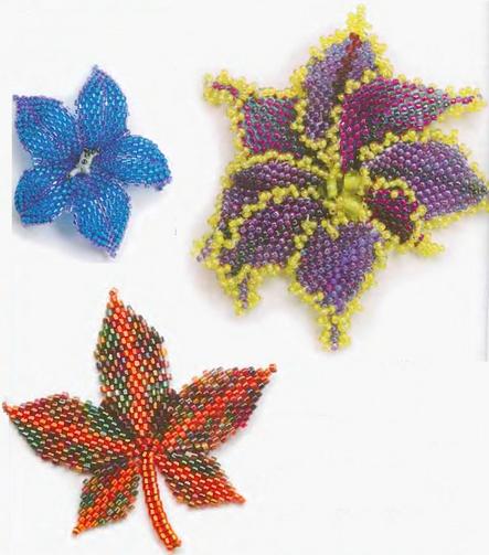 вариант плетения листиков
