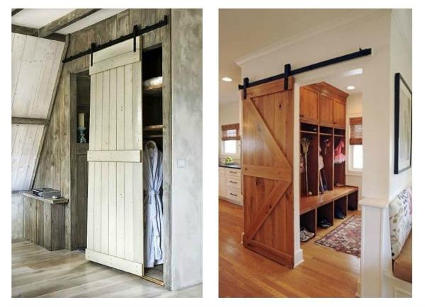 Innhogar puertas correderas tipo granero para interiores for Puertas interiores rusticas