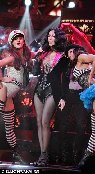 Cher singing 'Welcome To Burlesque' on her 'Dressed To Kill Tour'
