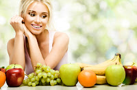 Woman with healthy diet