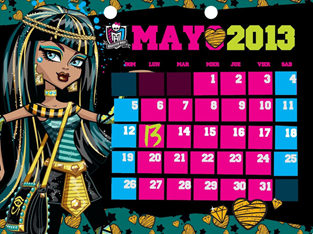 Monster High Toner Calendario