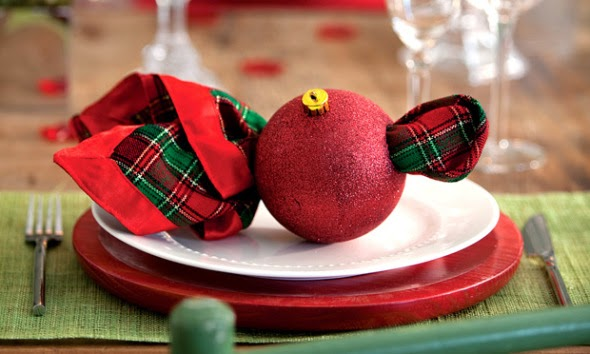 Como fazer porta guardanapos para o Natal com bolas