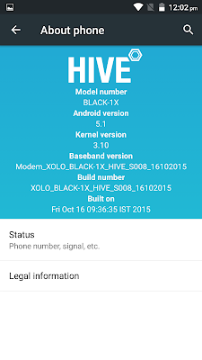 XOLO BLACK 1X hive ui review software