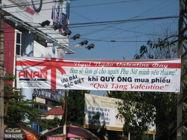 Hình ảnh Pleiku ngày Valentine 2012.