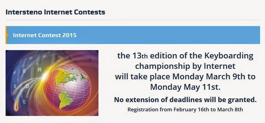13e Concours international Intersteno