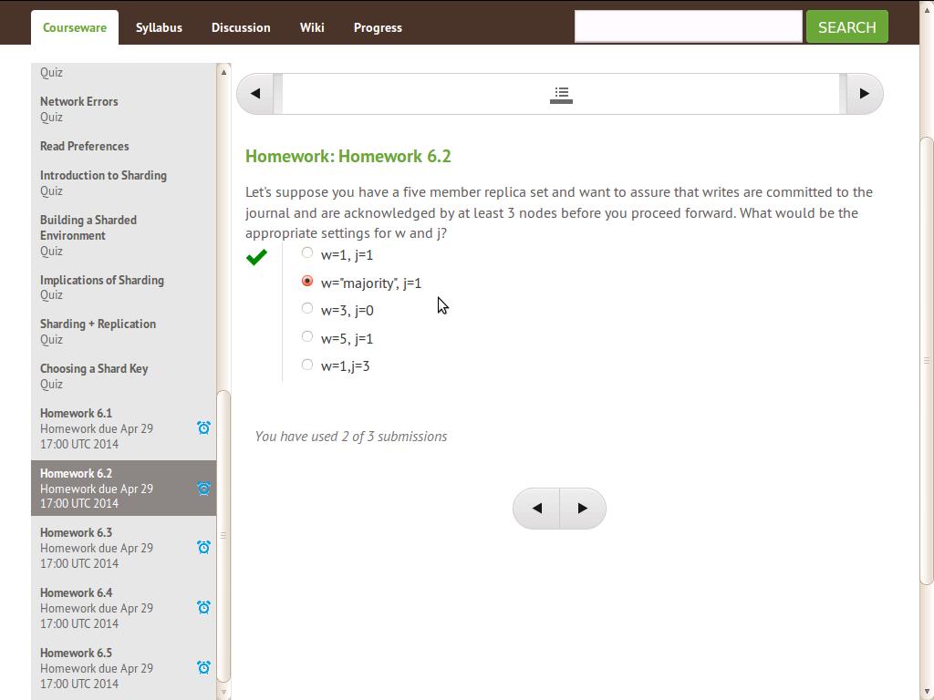~UPD~ Mongodb Homework 6.2 Answer Screenshot