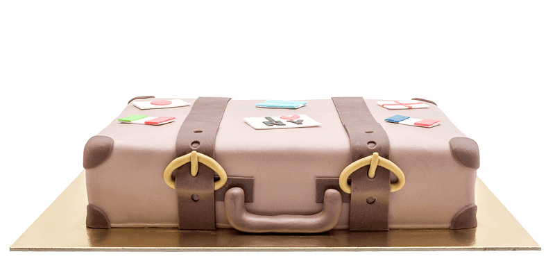 Luggage cake front side