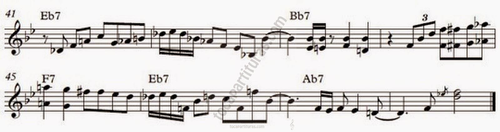 3 Transcripción del Solo de Piano de Wynton Kelly. Partitura del Tema Freddie Freeloader por Leonardo D'Atri