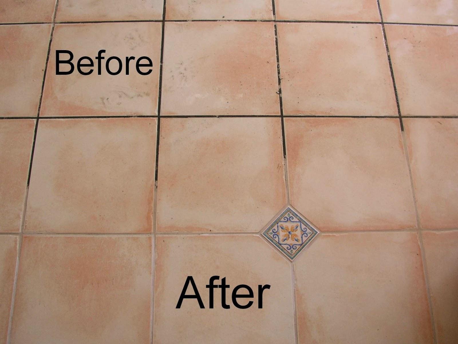 Round floor tile