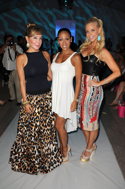 Marysol Patton, Melissa Gorga and Alexia Echeverria at L* Space at MBFWS 2014