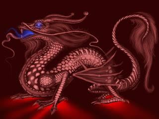 Voodoo Dragon Dark Gothic Wallpaper