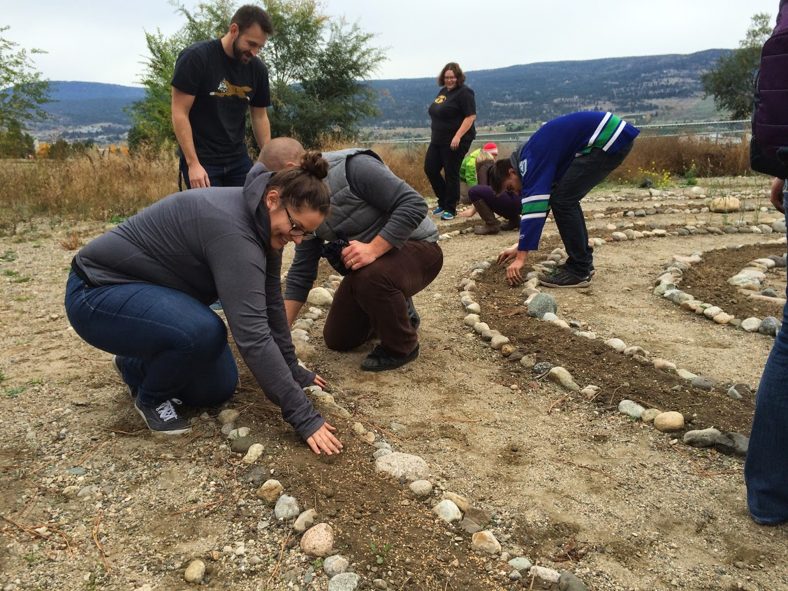 The Learning Garden: Fall Update: Wheat, Firepit, Pond
