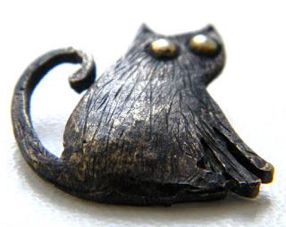 купить металлмические кулоны бронза украшения опт кот кошка