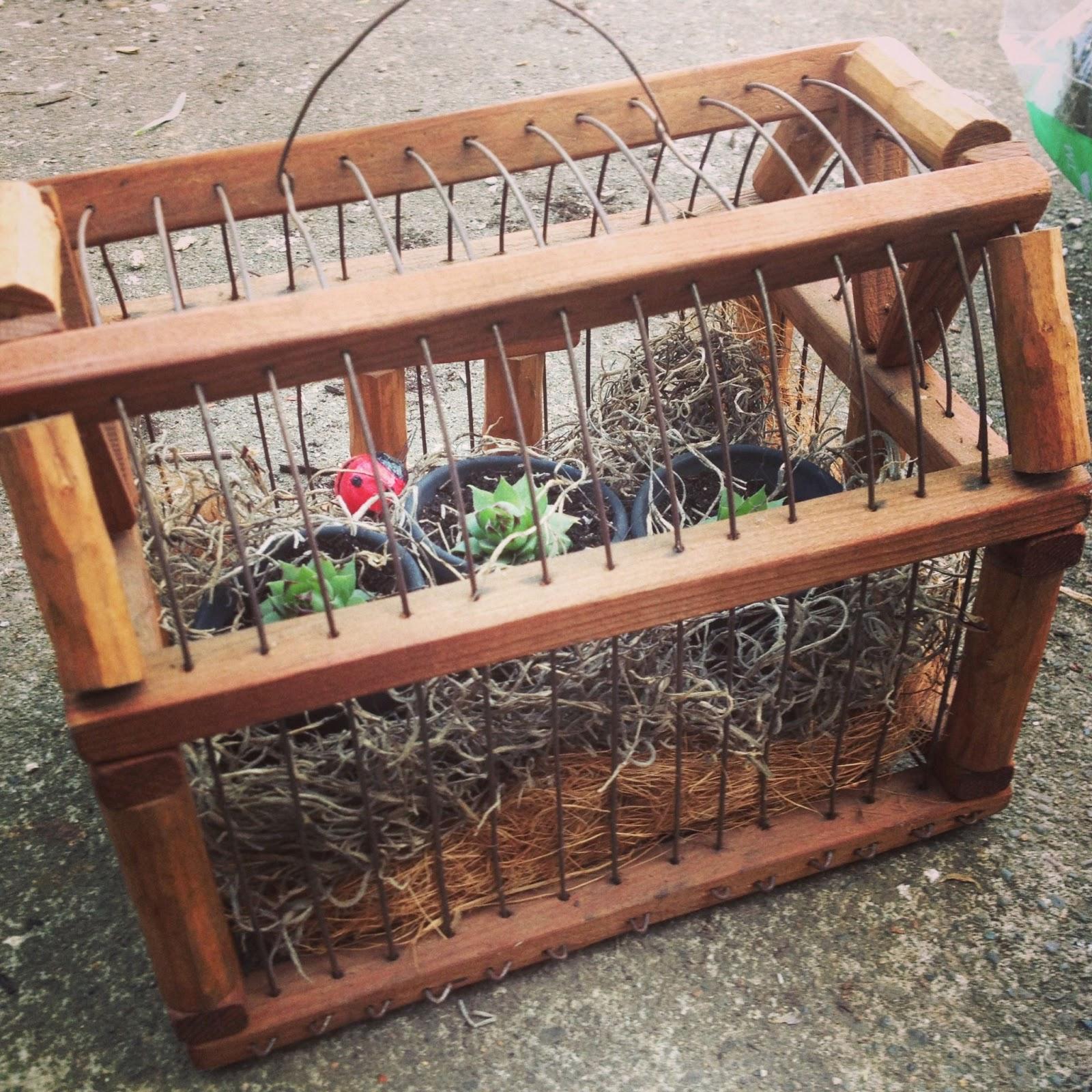Ommama and kraftykatina bird cage garden tutorial for Garden cage