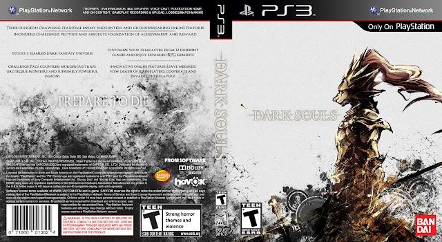 capa dark souls ps3 gamecover capas customizadas para