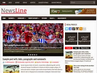 NewsLine - Premium Blogger Templates Free Download