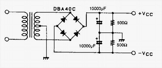 150w audio circuit diagram