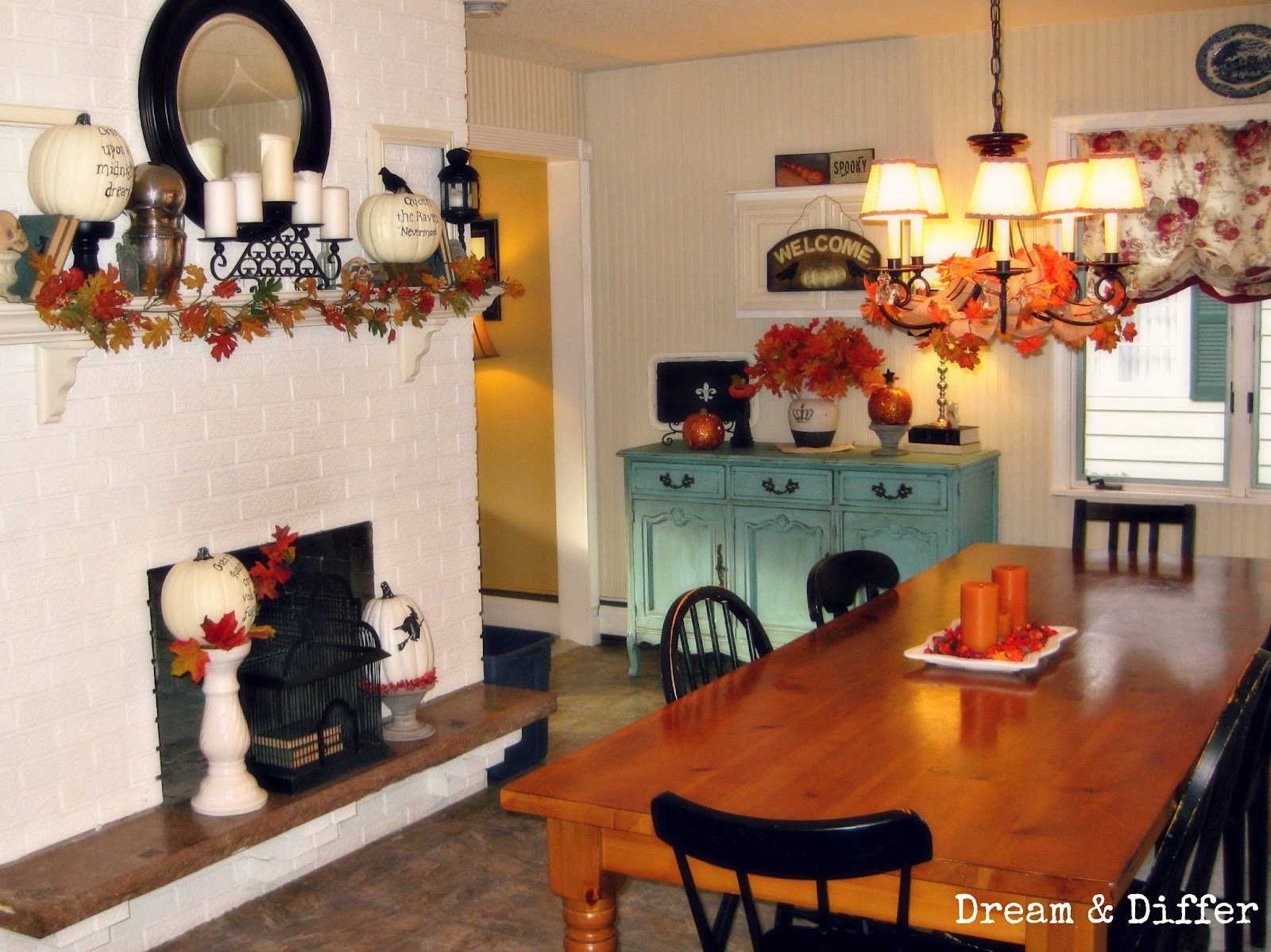 dream and differ fall dining room and a simple fall tablescape