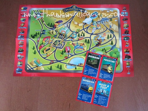 Chuggington map trading cards
