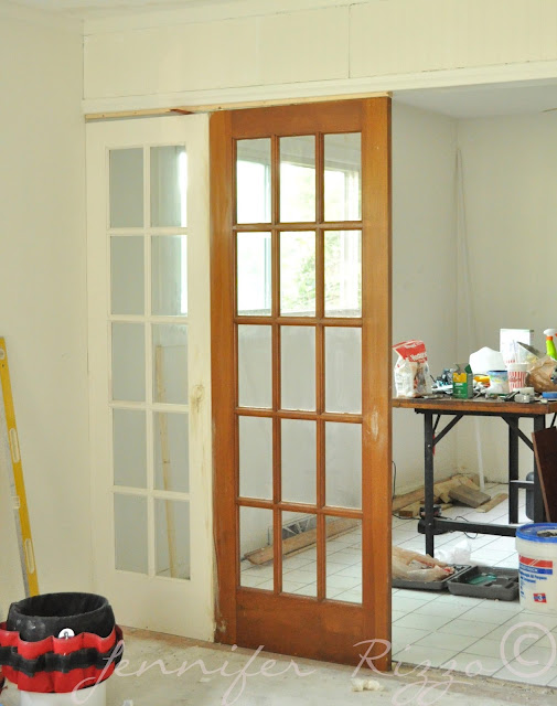 french doors as room dividers and architectural interest