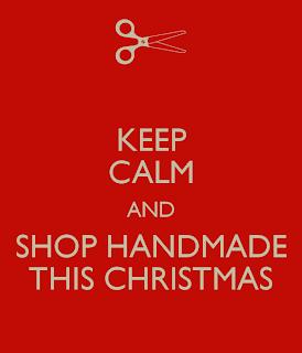 keep calm and shop handmade this christmas