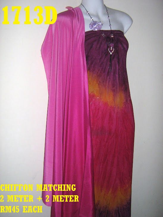 C 1713D: CHIFFON, 4 METER, JARANG DAN PERLU LINING