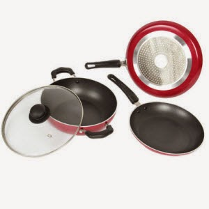 Flipkart: Buy Kreme Induction Bottom Non Stick Cookware Set of 3 at Rs.999