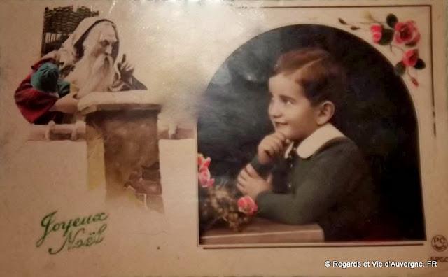 CPA Noël, enfant qui prie
