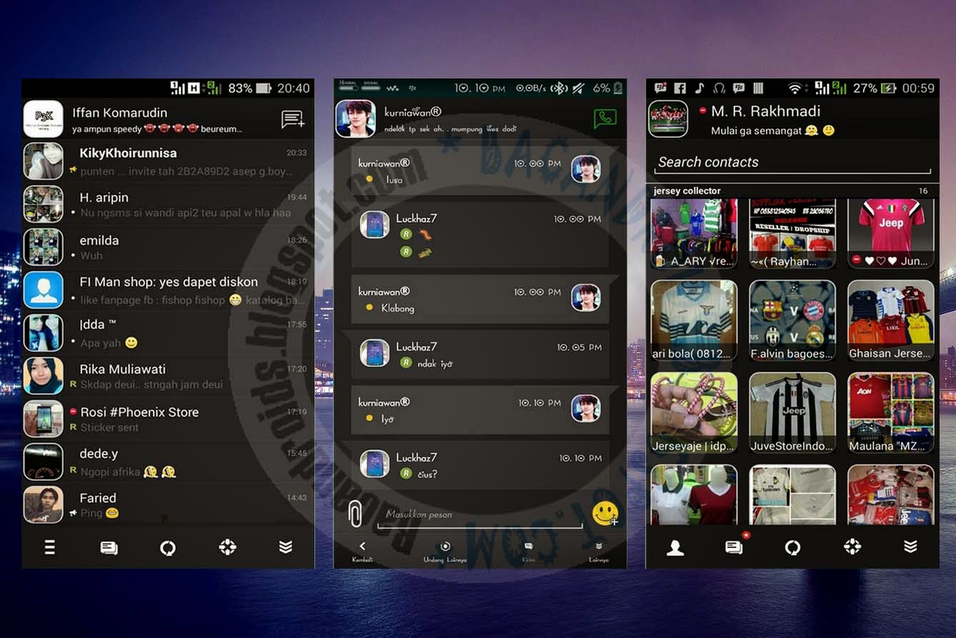 download BBM Mod Tema BlackRevolution Versi 2.8.0.21