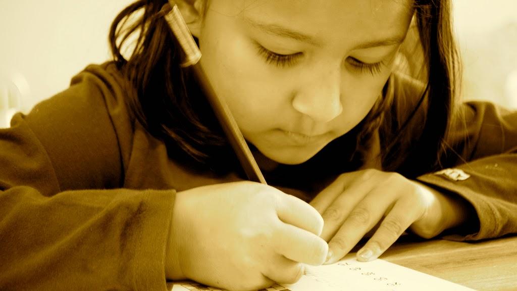 Homework with kids