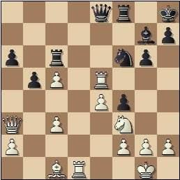 Partida de ajedrez Pérez - Prins, posición después de 24.Txe5
