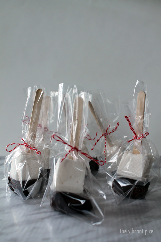 Christmas Treats Series: Hot Chocolate Sticks with Peppermint Tea Marshmallows