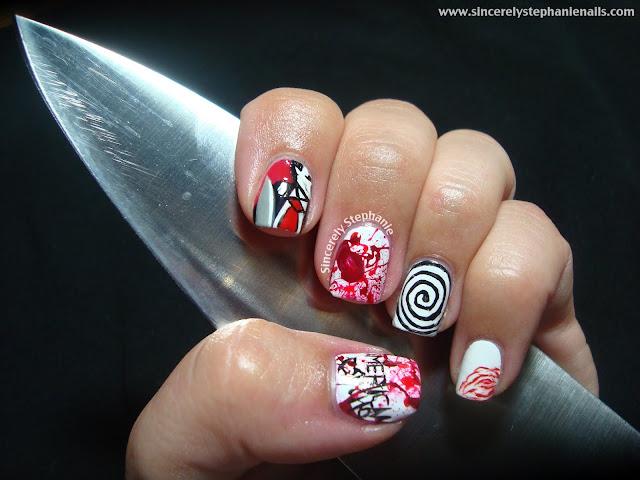 american psycho nail art